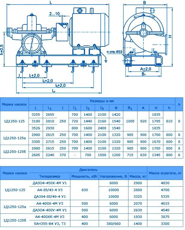1Д1250-125а
